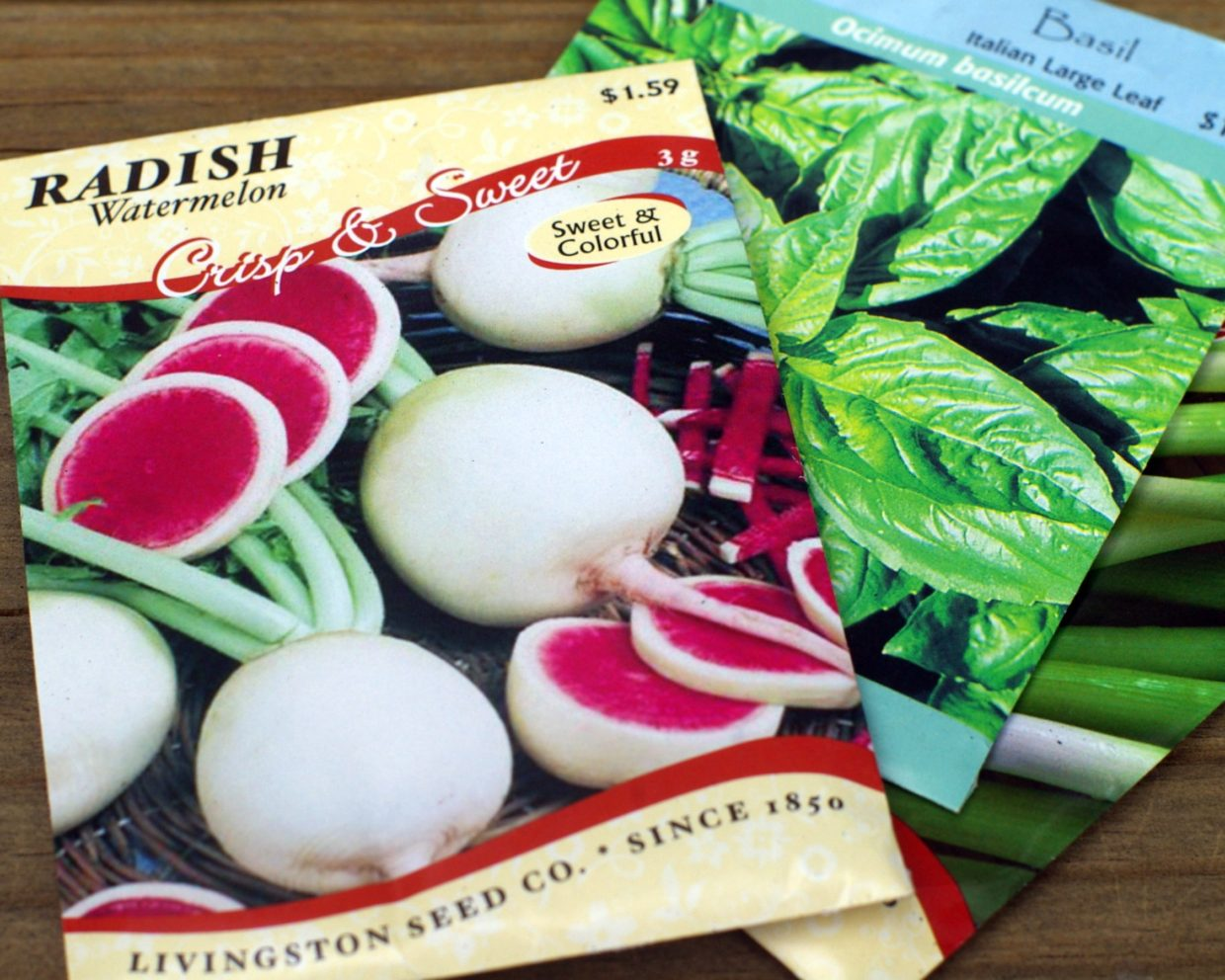 Use seed packets as miniature reference guides