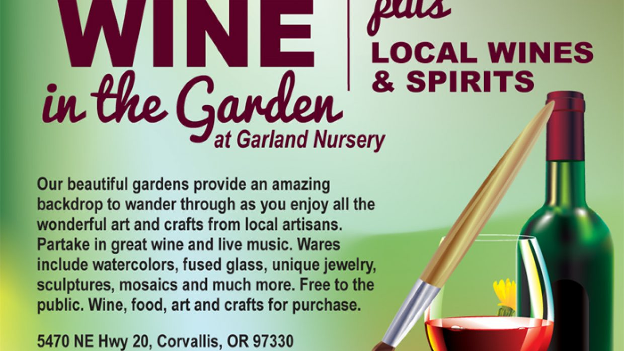 Art & Wine in the Garden at Garland Nursery