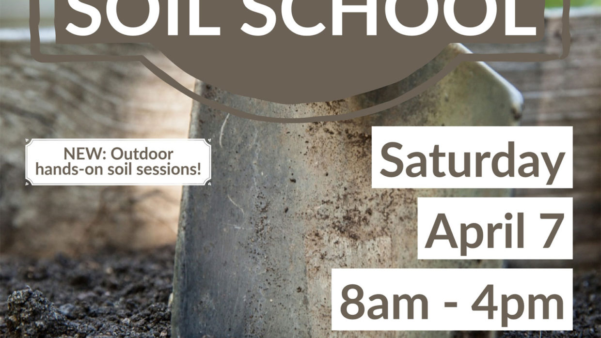 Registration is now open for Soil School 2018!
