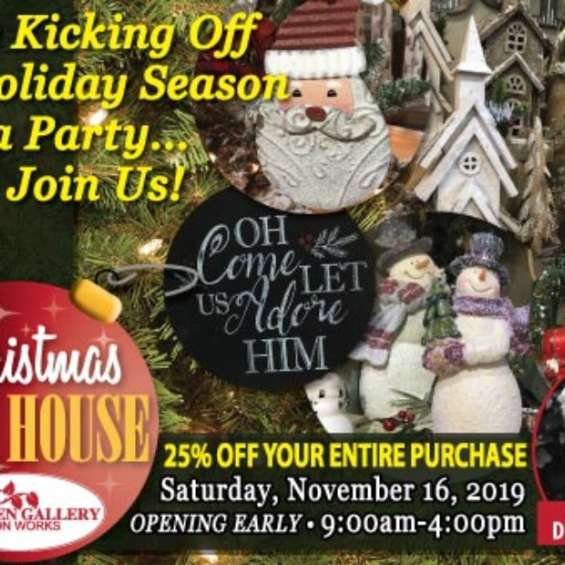 Kickoff the holiday season at Garden Gallery Iron Works